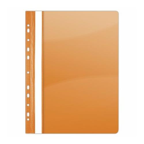 Gyorsfűző, lefűzhető, PVC, A4, DONAU, narancssárga