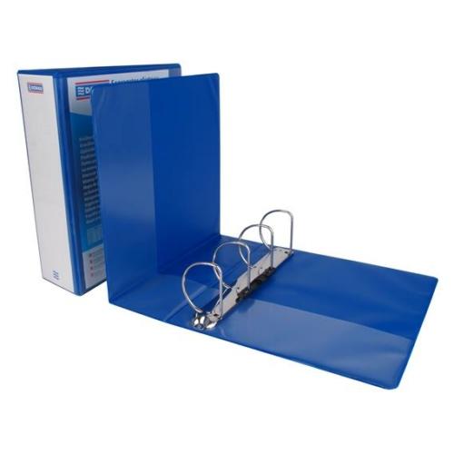 Gyűrűs könyv, panorámás, 4 gyűrű, D alakú, 100 mm, A4, PP, DONAU, kék