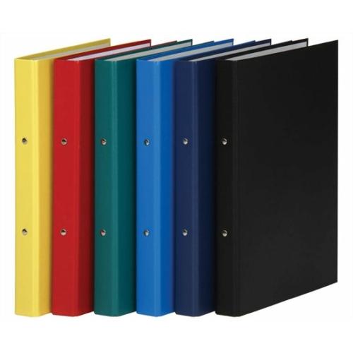 Gyűrűs könyv, 2 gyűrű, 35 mm, A4, PP/karton, DONAU, citromsárga
