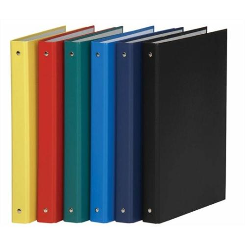 Gyűrűs könyv, 4 gyűrű, 35 mm, A4, PP/karton, DONAU, citromsárga