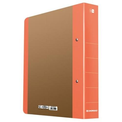 """Gyűrűs könyv, 2 gyűrű, D alakú, 50 mm, A4, karton, DONAU """"Life"""", neon narancssárga"""