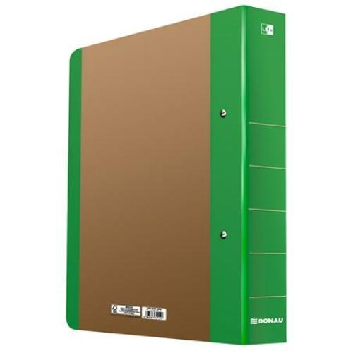 "Gyűrűs könyv, 2 gyűrű, D alakú, 50 mm, A4, karton, DONAU ""Life"", neon zöld"