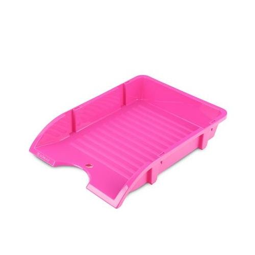 """Irattálca, műanyag, törhetetlen, DONAU """"Solid"""", rózsaszín"""