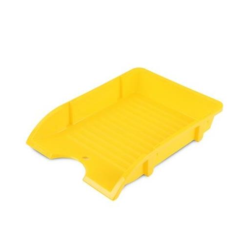 "Irattálca, műanyag, törhetetlen, DONAU ""Solid"", sárga"