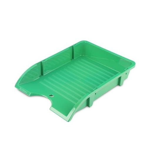 "Irattálca, műanyag, törhetetlen, DONAU ""Solid"", zöld"
