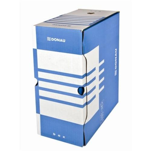 Archiváló doboz, A4, 155 mm, karton, DONAU, kék