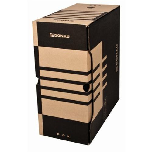 Archiváló doboz, A4, 155 mm, karton, DONAU, natúr
