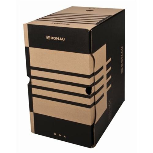 Archiváló doboz, A4, 200 mm, karton, DONAU, natúr