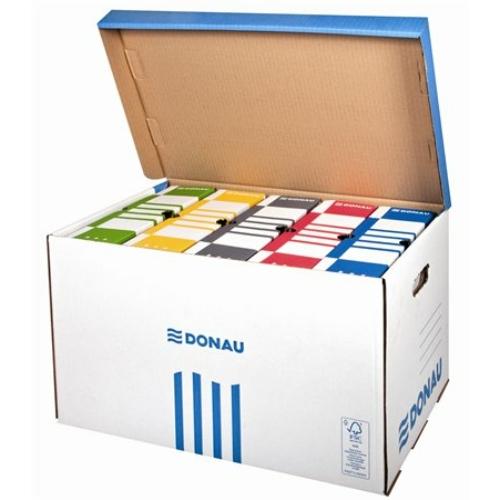 Archiváló konténer, felfelé nyíló, DONAU, kék