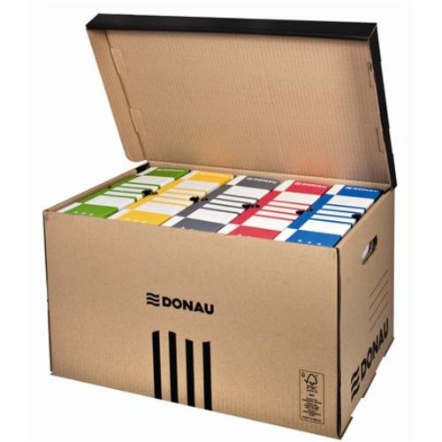 Archiváló konténer, felfelé nyíló, DONAU, barna