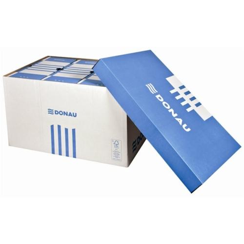 Archiváló konténer, levehető tető, 545x363x317 mm, karton, DONAU, kék-fehér