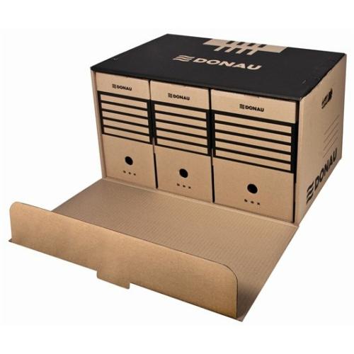 Archiváló konténer, előre nyíló, DONAU, barna