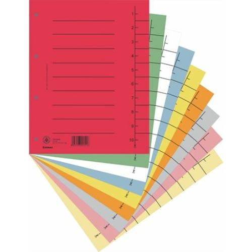 Regiszter, karton, A4, DONAU, vegyes színek