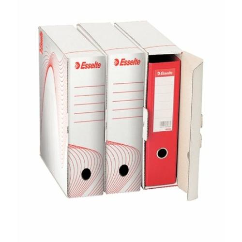 """Archiváló doboz, iratrendezőnek, 97 mm, újrahasznosított karton, ESSELTE """"Standard"""" , fehér"""
