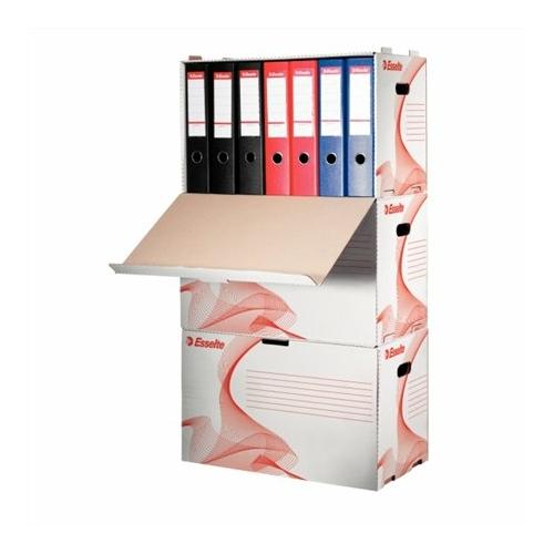 """Archiváló konténer, karton, előre nyíló, iratrendezőnek, ESSELTE """"Standard"""", fehér"""
