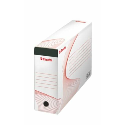 """Archiváló doboz, függőmappának, 117 mm, újrahasznosított karton, ESSELTE """"Standard"""""""