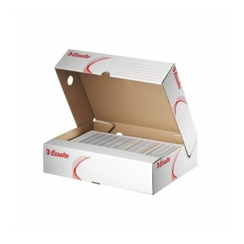 """Archiváló doboz, A4, 80 mm, karton, felfelé nyíló, ESSELTE """"Standard"""", fehér"""