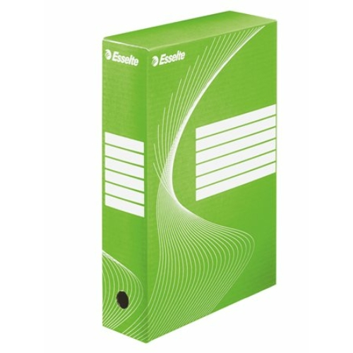 """Archiváló doboz, A4, 80 mm, karton, ESSELTE """"Boxycolor"""", zöld"""