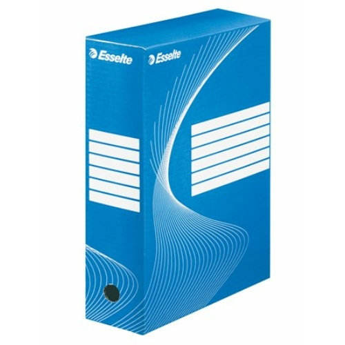 "Archiváló doboz, A4, 100 mm, karton, ESSELTE ""Boxycolor"", kék"