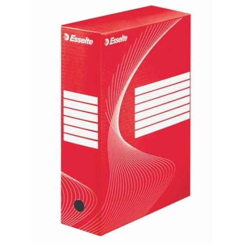 "Archiváló doboz, A4, 100 mm, karton, ESSELTE ""Boxycolor"", piros"