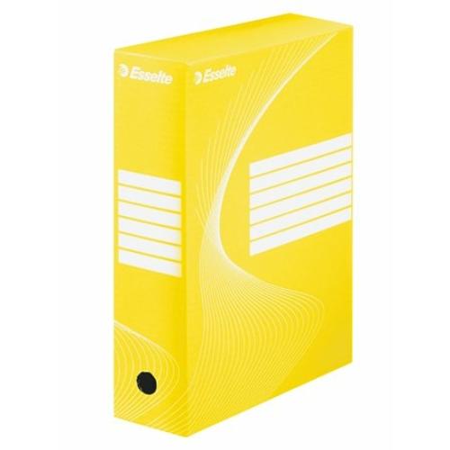 "Archiváló doboz, A4, 100 mm, karton, ESSELTE ""Boxycolor"", sárga"