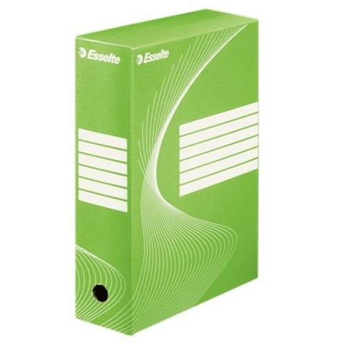 """Archiváló doboz, A4, 100 mm, karton, ESSELTE """"Boxycolor"""", zöld"""