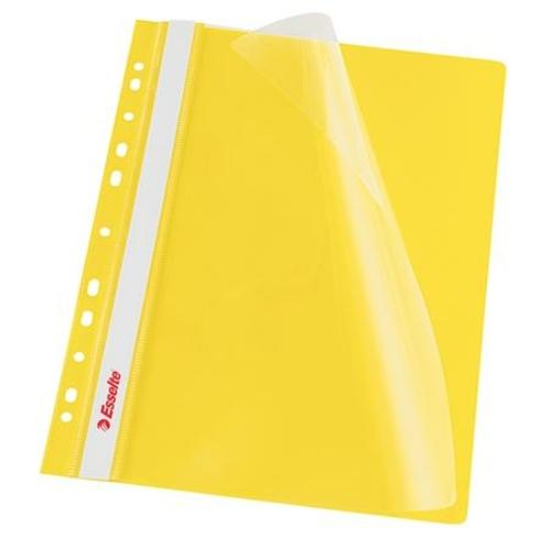Gyorsfűző, lefűzhető, PP, A4, ESSELTE, VIVIDA, sárga