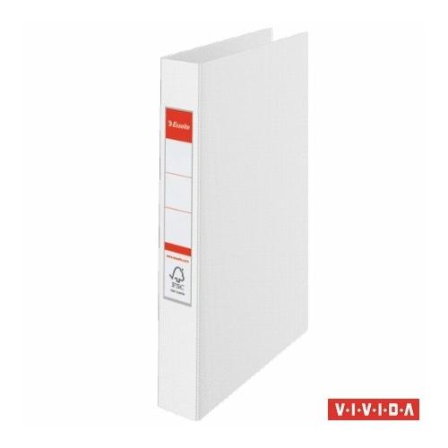 """Gyűrűs könyv, 2 gyűrű, 42 mm, A4, PP, ESSELTE """"Standard"""", Vivida fehér"""