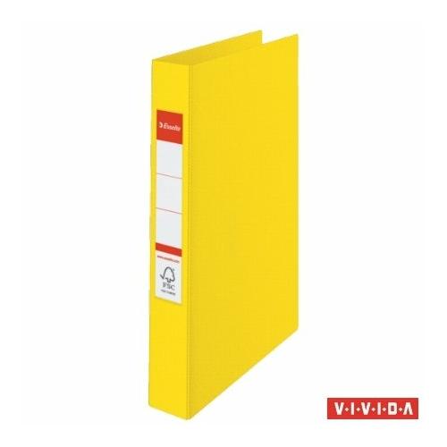 "Gyűrűs könyv, 2 gyűrű, 42 mm, A4, PP, ESSELTE ""Standard"", Vivida sárga"