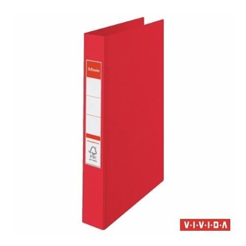 "Gyűrűs könyv, 2 gyűrű, 42 mm, A4, PP, ESSELTE ""Standard"", Vivida piros"