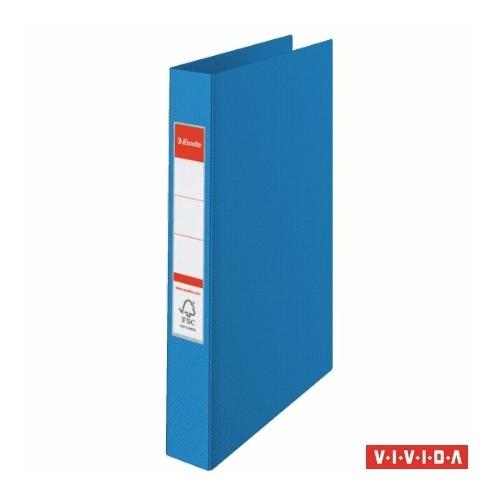 """Gyűrűs könyv, 2 gyűrű, 42 mm, A4, PP, ESSELTE """"Standard"""", Vivida kék"""