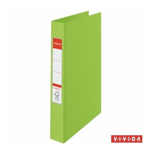 """Gyűrűs könyv, 2 gyűrű, 42 mm, A4, PP, ESSELTE """"Standard"""", Vivida zöld"""