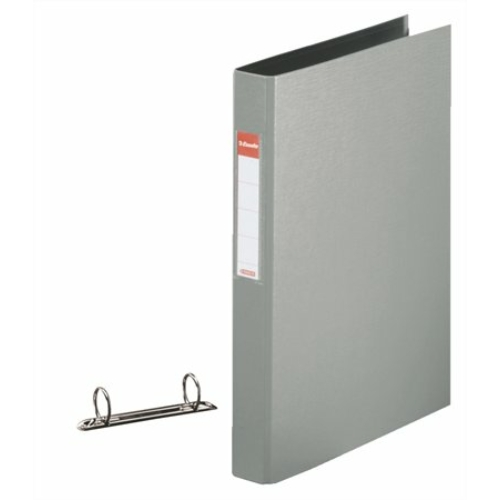 """Gyűrűs könyv, 2 gyűrű, 42 mm, A4, PP, ESSELTE """"Standard"""", szürke"""