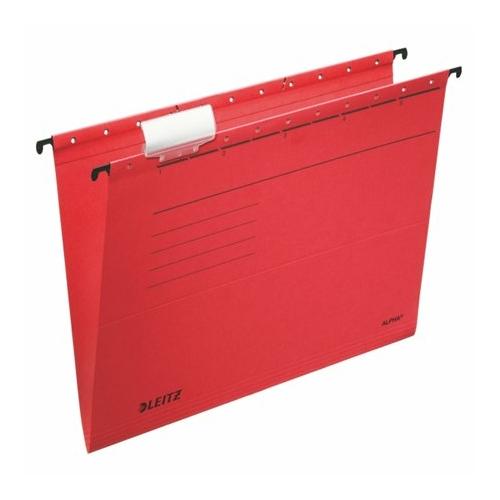 "Függőmappa, karton, A4, LEITZ ""Alpha Standard"", piros"