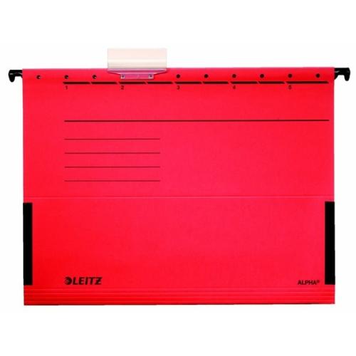 """Függőmappa, oldalvédelemmel, karton, A4, LEITZ """"Alpha"""", piros"""