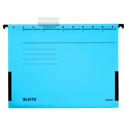 """Függőmappa, oldalvédelemmel, karton, A4, LEITZ """"Alpha"""", kék"""