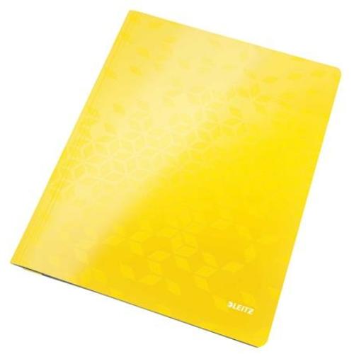 """Gyorsfűző, laminált karton, A4, LEITZ """"Wow"""", sárga"""