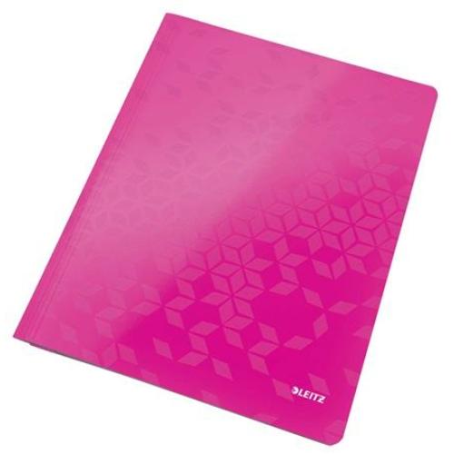 """Gyorsfűző, laminált karton, A4, LEITZ """"Wow"""", rózsaszín"""