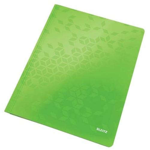 """Gyorsfűző, laminált karton, A4, LEITZ """"Wow"""", zöld"""