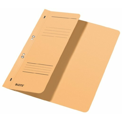 Gyorsfűző, lefűzhető, karton, A4 feles, LEITZ, chamois
