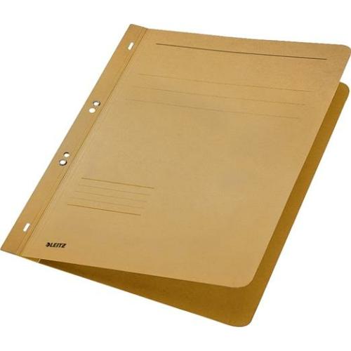 Gyorsfűző, lefűzhető, karton, A4, LEITZ, natúr