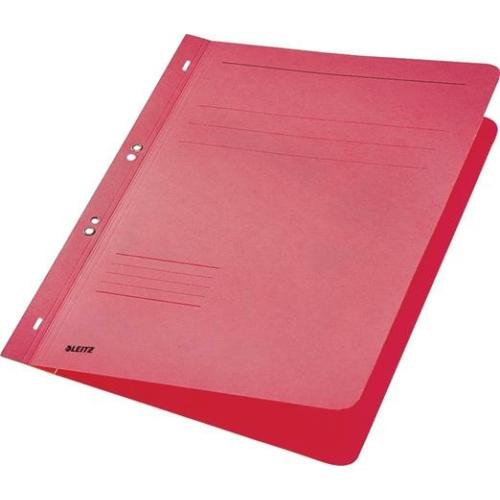 Gyorsfűző, lefűzhető, karton, A4, LEITZ, piros