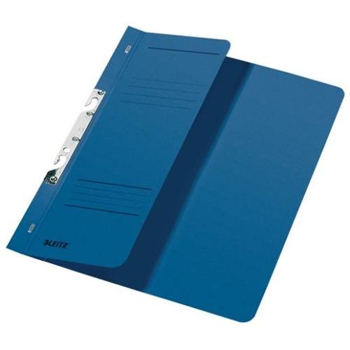 Gyorsfűző, karton, fémszerkezettel, A4 feles, LEITZ, kék
