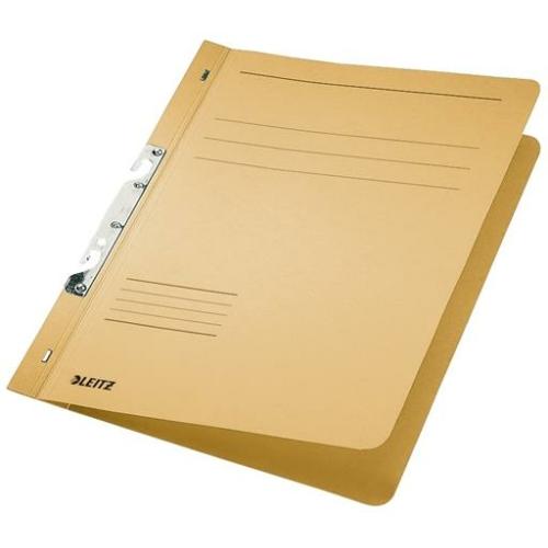 Gyorsfűző, karton, fémszerkezettel, A4, LEITZ, sárga