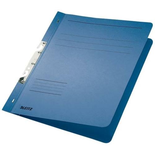 Gyorsfűző, karton, fémszerkezettel, A4, LEITZ, kék