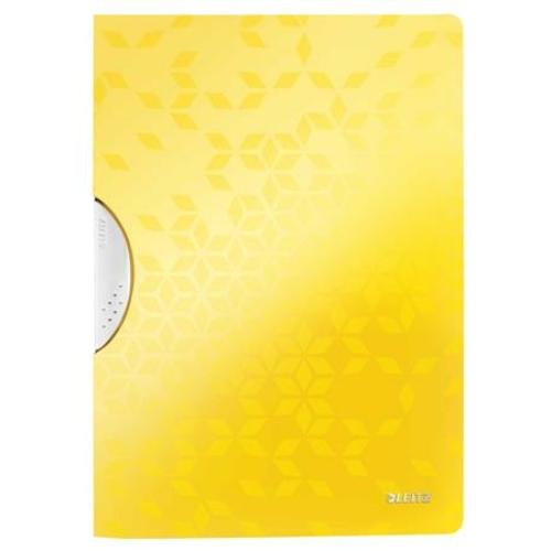 """Gyorsfűző, klipes, PP, A4, LEITZ """"Wow ColorClip"""", sárga"""