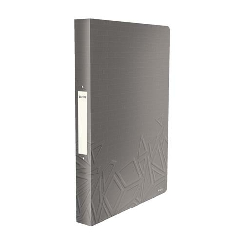 """Gyűrűs könyv, 2 gyűrű, 26 mm, A4, PP, LEITZ """"Urban Chic"""", szürke"""