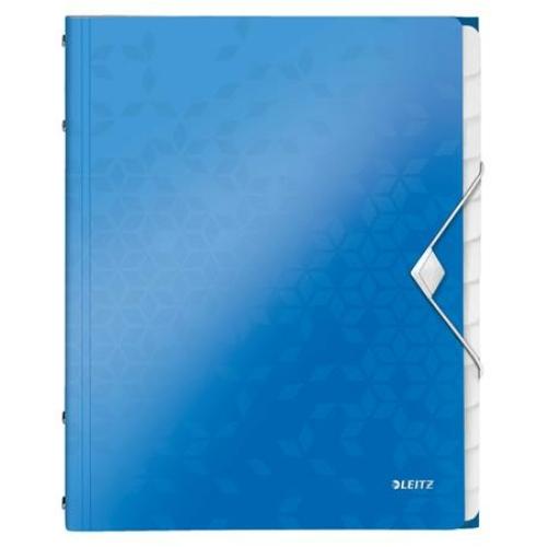 """Előrendező, A4, 12 részes, műanyag, LEITZ """"Wow"""", kék"""
