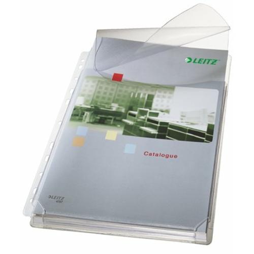 """Genotherm, lefűzhető, A4, 170 mikron, narancsos felület, 20 mm, behajtható fül, LEITZ """"Jumbo"""""""
