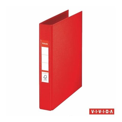 "Gyűrűs könyv, 2 gyűrű, 42 mm, A5, PP, ESSELTE ""Standard"", Vivida piros"